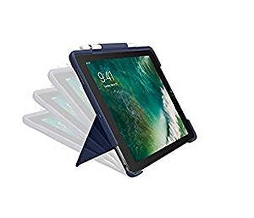 Logitech Slim Combo Funda para iPad, iPad Pro 12.9 Pulgadas, (1a/2a Generación, Modelos A1584, A1652, A1670, A1671, A1821) Teclas Retroiluminadas, Smart Conector, Disposición QWERTY Español, Azul