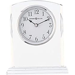 Howard Miller Flaire Table Clock 645-713 – Glass Crystal with Quartz Movement