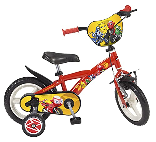 TOIMS Pik&Roll Ricky Zoom Kinderfahrrad 12' Bicicleta Infantil, Niños, Rojo
