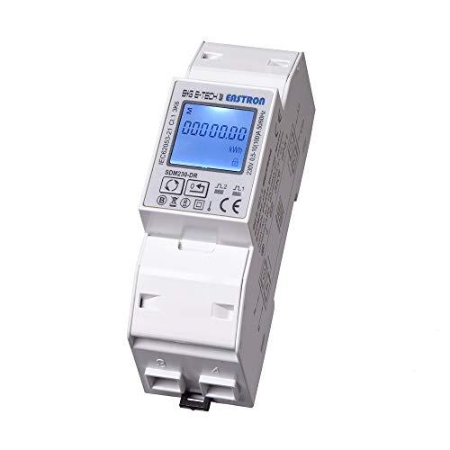 SDM230DR-MID - digitaler 1 Phasen Wechselstromzähler/Stromzähler für DIN Hutschiene mit S0 Schnittstelle/geeicht/MID zugelassen