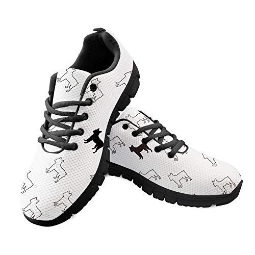 Shinelly Sportschoenen voor heren, wit patroon, loopschoenen, sneaker, ademend, lichte trailloopschoenen