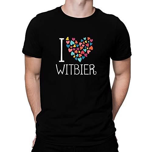 Teeburon I Love Witbier Colorful Hearts Camiseta