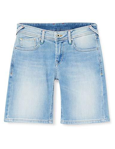 Pepe Jeans Poppy Short Pride Pantaloncini, Blu (000DENIM 000), 38 Donna