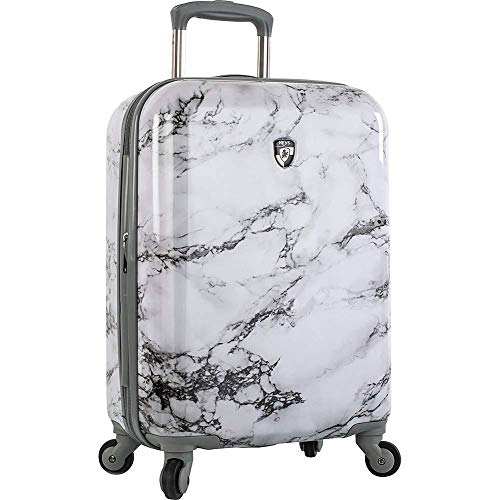 Heys America Bianco 21 Stone Print Carryon Luggage (White Marble)