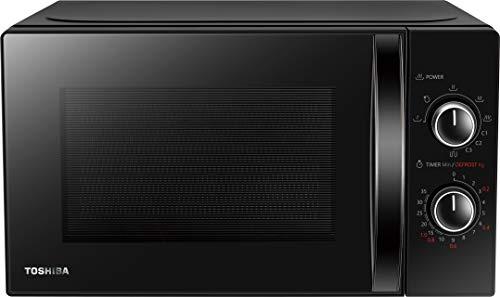 Toshiba MW-MG20P (BK) magnetron met grill 800 W met Crispy Grill 1000 W, 20 l