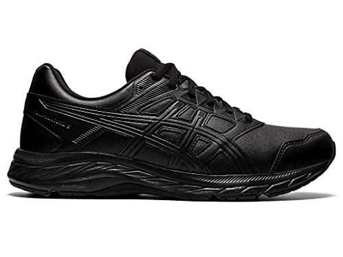 ASICS Men's Gel-Contend 5 SL Walking Shoe, 10, Black/Graphite Grey