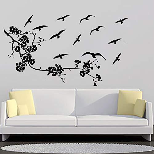 hetingyue vinylmuur applicatie kunst slaapkamer bloemen en vogels meer traditionele Chinese plant kinderen muursticker