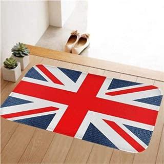 FidgetFidget Anti-Slip Doormat Door Mat Indoor/Bedroom/Front Door/Bathroom Rug Carpet 80x50cm 1503 UK Flag