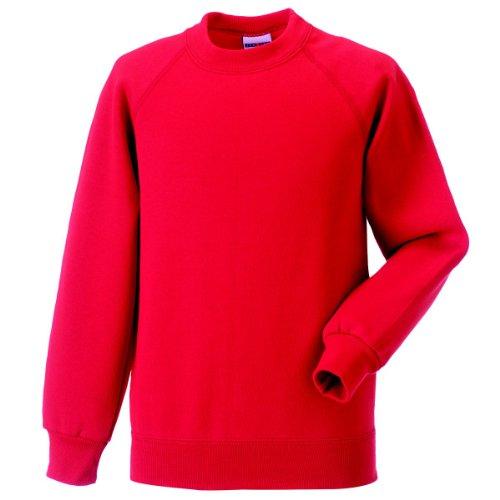 Jerzees Schoolgear Classique sweat-shirt manches longues de Kid clair Rouge 1-2 Yrs