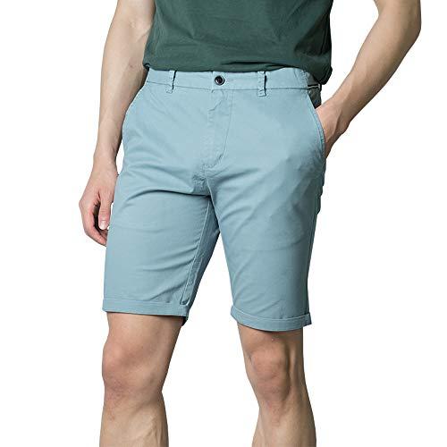 Zedelmaier Herren Kurze Modernhose aus Baumwolle Cuba Chino Shorts Kurze Hose Regular Bermudas Sommerhose Herrenshorts (Hellblau, 44)