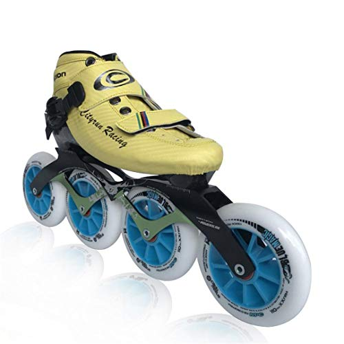 Professional Inline Speed Skates Inline Speed Skating Shoes Adults Child Inline Roller Skates Speed Inline Skating Blue wheels5 6