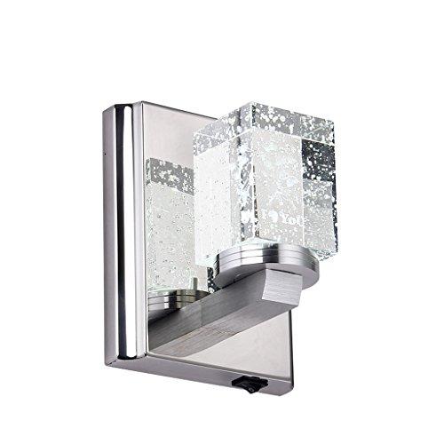CY - Modern minimaliste en acier inoxydable LED K9 lampe de mur en cristal chambre corridor couloir chevet escalier éclairage
