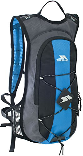 Trespass Mirror, Cobalt, Lightweight Hydration Backpack / Rucksack 15L with 2L Water Reservoir & Hip Strap, Blue