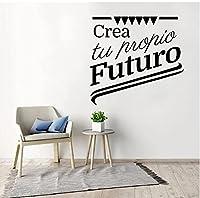 スペイン語フランス語引用ウォールステッカーアートビニール壁紙リビングルーム寝室キッチンホーム装飾ウォールステッカーステッカー壁画43x45cm