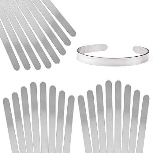 ImpressArt Aluminum Bracelet Blanks, 1/4' x 6', Pack of 24