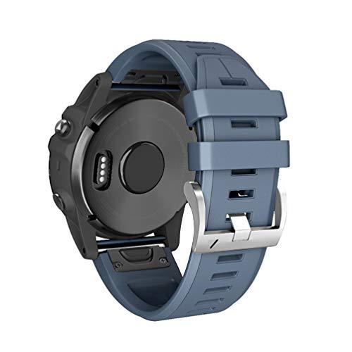HappyTop Correa Deportiva de liberación rápida de Repuesto para Reloj Inteligente Garmin Fenix 3/Fenix 3 HR/Fenix 5X/Fenix 5X Plus, Color Azul Marino, Deportes
