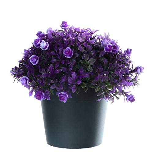 1 Boeket Kunstmatige Fake Rose Flower Potplant Wedding Party Home Decor Kunstmatige Rose Flower Handmade Beautiful Home, Purple