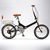 Bicicleta de montaña, bicicleta de ciudad de 20 'con ruedas, bicicletas de crucero de 6 velocidades con asiento...