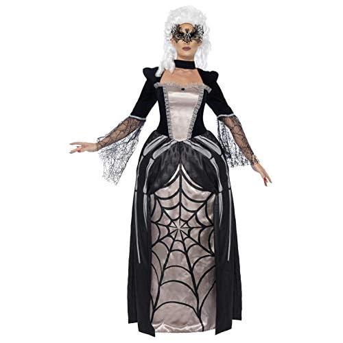 SMIFFYS Smiffy's 43741M - Costume Nero Widow Baronessa con Vestito Stampato, M