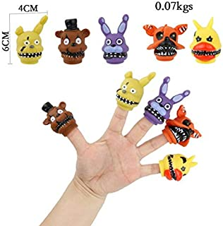 5pcs/Set Five Nights at Freddy's Finger Toy FNAF Chica Bonnie Foxy Freddy Fazbear Bear Collection Action Figure Toys