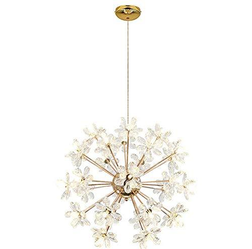 LEY LED-Kristall Dandelion Kronleuchter Kugel-Lampe Kreative Sphärische Chandelier Restaurant Bar Cafe Bekleidungsgeschäft 32 Kopf