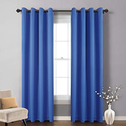 MySky hogar sólido ojal superior con aislamiento térmico ventana cortina Blackout, 52pulgadas (1Panel)