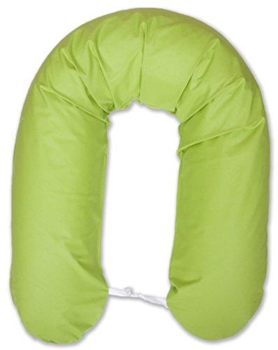 Amilian® XXL Bezug für Stillkissen Baby Lagerungskissen Lang Seitenschläferkissen 170 cm Grün