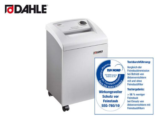 Destructora personal DAHLE 204 air CleanTEC® tiras 3,9 mm, ancho boca 240mm, 40 litros
