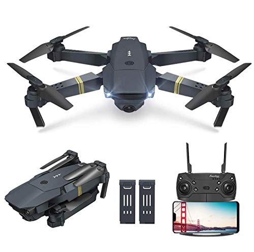 OBEST Drone met camera, hoogtewachtmodus, 360 ° rotatie opvouwbare drone met FPV HD 720P mobiele app groothoek Selfie drone-besturing, vliegroute.
