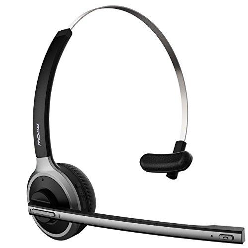 Mpow Bluetooth-Kopfhörer, kabellos, mit Mikrofon, Geräuschunterdrückung bis zu 13 Stunden, Freisprecheinrichtung für Skype VoIP Anrufe Fahrer Zentrum Telefon Büro