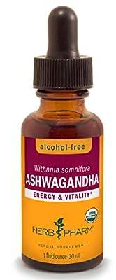 Herb Pharm Certified Organic Ashwagandha Extract for Energy and Vitality