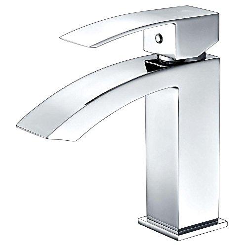 Revere Single Handle Bathroom Sink grifo en cromo pulido