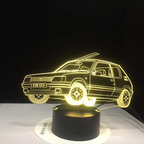 Bunte dreidimensionale kreative 3D-Tischlampe Dinner Car Ferrari Tisch Ersatz Schreibtisch LED | Weihnachten tragbar