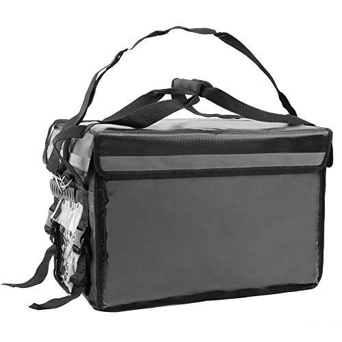CityBAG - Thermischer Tasche für wegbringen Essen Bestellungen per Fahrrad und Motorrad Lieferung schwarz 50 x 39 x 39 cm.