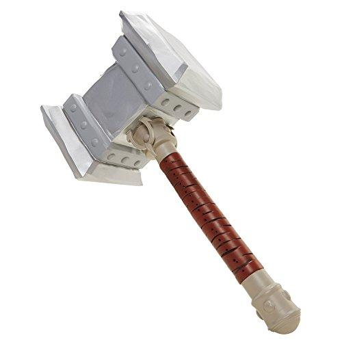 Warcraft- Doom Hammer Figure World of Martillo Cosplay, Color Gris (Jakks Pacific 96743)