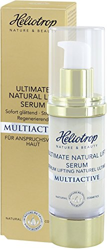 HELIOTROP Naturkosmetik MULTIACTIVE Ultimate Natural Lift Serum, 7-Effekt Hyaluron, Für eine spürbar gestraffte Haut, Jugendlicheres Aussehen, Samtig-zartes Hautgefühl, 30ml