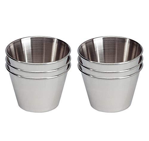 EUROXANTY® Formen| Aus rostfreier Stahl | für Nachtische und Gebacke | Ø9 cm | 6-teiliges Set