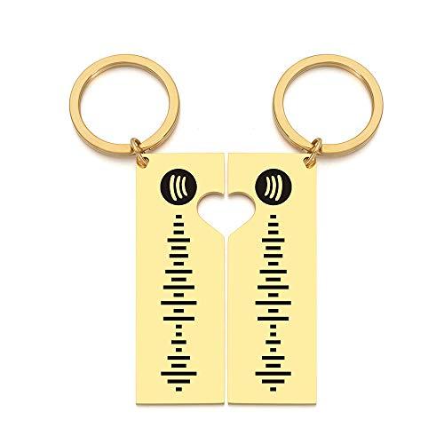 Portachiavi personalizzato con polsino con codice di scansione Spotify per donna Portachiavi in acciaio inossidabile Incisione laser personalizzata con anello con codice Spotify