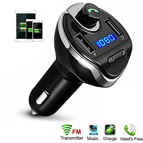 TYTOGE Transmisor FM Manos Libres para teléfono Adaptador de Cargador de Coche MP3 Transmisor FM Bluetooth