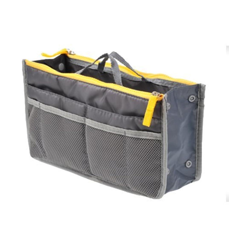 不道徳ニュース傾いたTENDOC 高品質 バッグでバッグを簡単収納 お財布 携帯などの必需品から手帳やペンもピッタリサイズ グレー