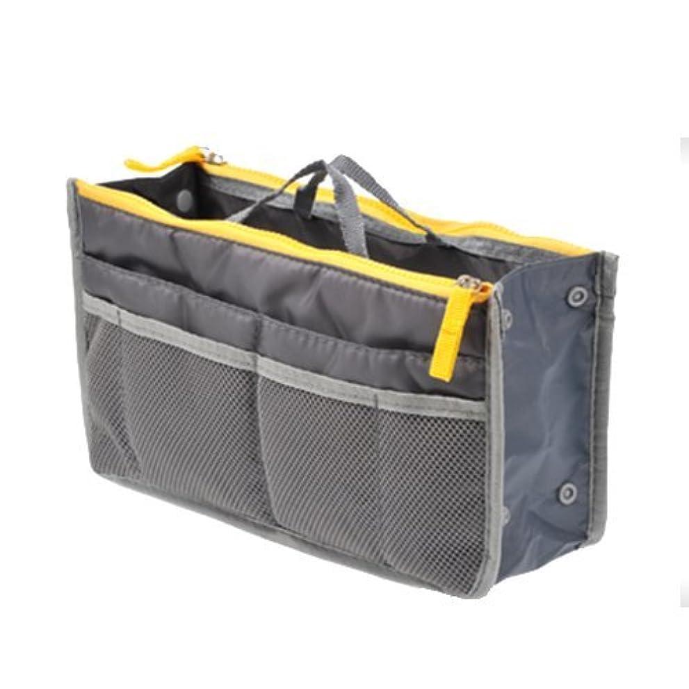 風刺大きさサドルTENDOC 高品質 バッグでバッグを簡単収納 お財布 携帯などの必需品から手帳やペンもピッタリサイズ グレー