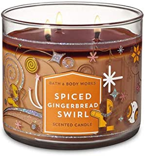 White Barn Bath & Body Works 3 Wick Candle Spiced Gingerbread Swirl