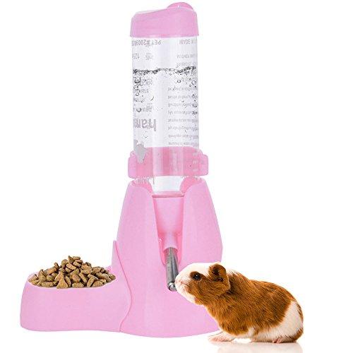 ShareWe Botella de Agua para Animales Dispensador Waterer Automático con Recipiente Tapa para Mascotas Gato Hamsters Ratas Cobayas Hurones Rabbits Conejos Animales pequeños