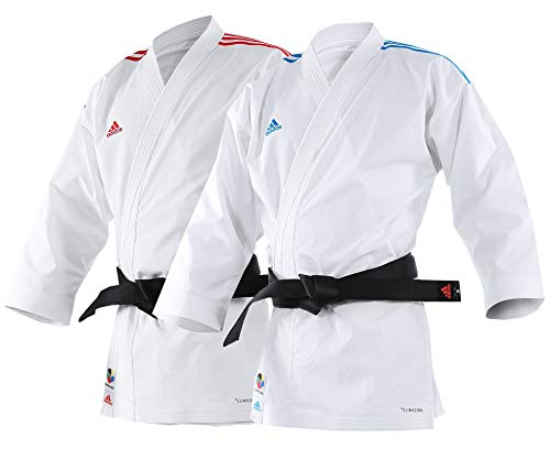 adidas Karate Anzug Adilight Weiß / Rot-190