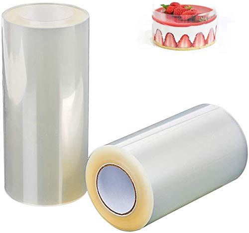 HIQE-FL Kuchen Kragen,Transparent Acetat Rolle,Transparent Backen Kuchen Rolle,Transparent Rolle Kuchen,Transparent Rolle