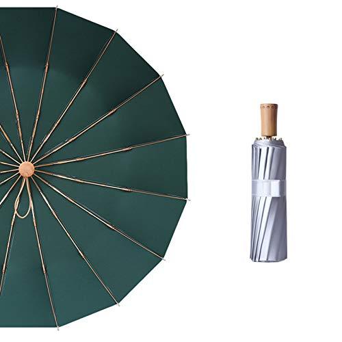 Mini paraguas de 16 costillas de bolsillo titanio plata anti