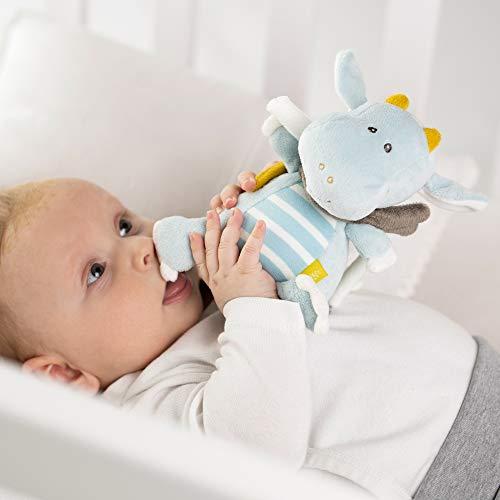 Fehn 065015 Spieluhr Drache/Kuscheltier mit integriertem Spielwerk mit sanfter Melodie zum Aufhängen an Kinderwagen, Babyschale oder Bett, für Babys und Kleinkinder ab 0+ Monaten - 4
