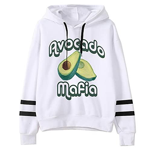 Sudaderas con Capucha Mujeres Hombres Avocado Estampado Camisetas Manga Larga Encapuchado Camisa de Entrenamiento Hip Hop Street Hoodie Sweatshirt Tops Pullover (10506,L)