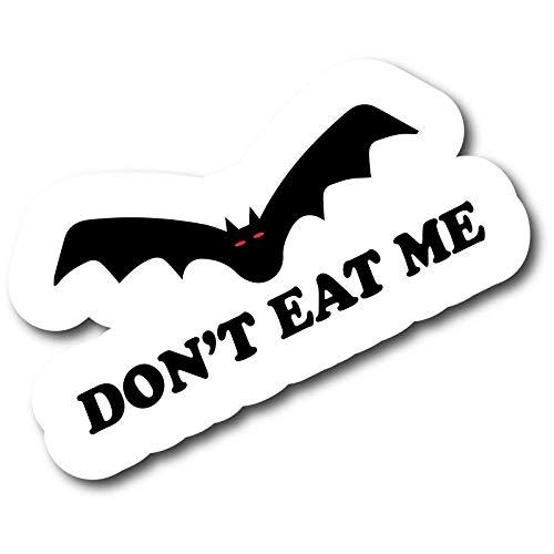 ADESIVO STICKERS DON'T EAT ME BAT CHINA CORONAVIRUS 10X5CM