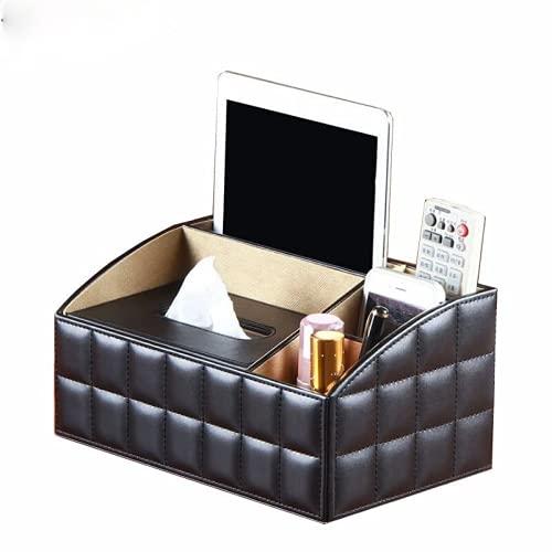 MUY PU Leder Abnehmbare Luxus Büro Taschentuch Box Serviettenhalter Schreibtisch Aufbewahrungsbox Kosmetik Schmuck Fernbedienung Organizer Aufbewahrungsbox